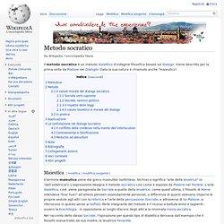 Wikipedia: Metodo socratico
