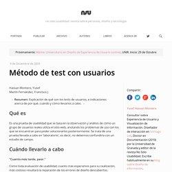 Método de test con usuarios