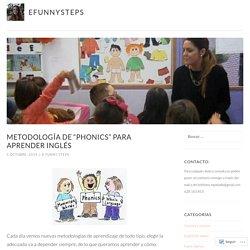 "Metodología de ""Phonics"" para aprender inglés – efunnysteps"