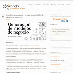Metodología Canvas para la Creación de Modelos de Negocios Innovadores