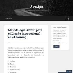 Metodología ADDIE para el Diseño Instruccional en eLearning