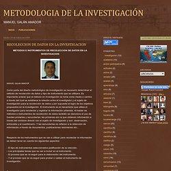 RECOLECCION DE DATOS EN LA INVESTIGACION