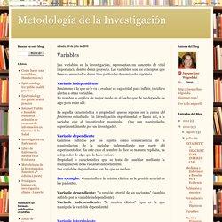 Metodología de la Investigación: Variables