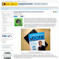 Evernote: Metodología GTD para el profesorado organizado