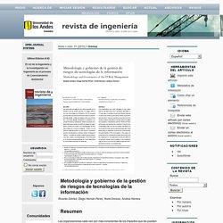 Metodología y gobierno de la gestión de riesgos de tecnologías de la información