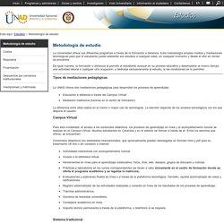 Metodología de estudio - Estudios - Universidad Nacional Abierta y a Distancia - UNAD