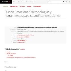 Diseño Emocional: Metodologías y herramientas para cuantificar emociones