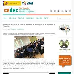 Metodologías activas en el Máster de Formación del Profesorado en la Universidad de Extremadura
