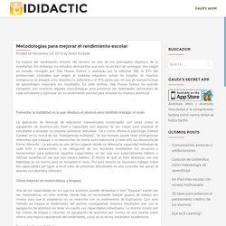 Metodologías para mejorar el rendimiento escolar – iDidactic