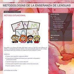 METODOLOGÍAS DE LA ENSEÑANZA DE LENGUAS: MÉTODO SITUACIONAL