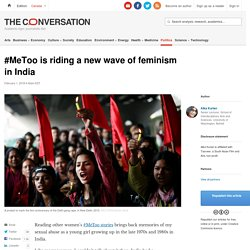 #MeToo is riding a new wave of feminism in India