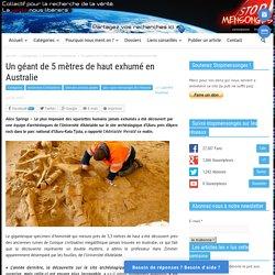 Un géant de 5 mètres de haut exhumé en Australie
