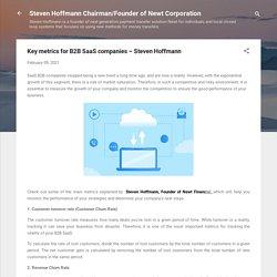 Key metrics for B2B SaaS companies – Steven Hoffmann