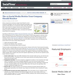 The 10 Social Media Metrics Your Company Should Monitor