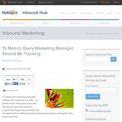15 Metrics Every Marketing Manager Should Be Tracking