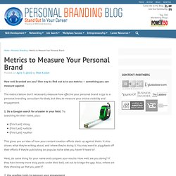Metrics to Measure Your Personal Brand | Personal Branding Blog