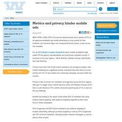 Metrics and privacy hinder mobile ads