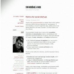 Metrics for social startups - swombat.com