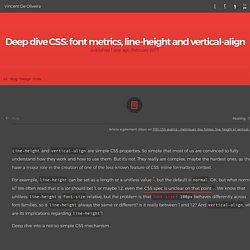 Deep dive CSS: font metrics, line-height and vertical-align - Vincent De Oliveira