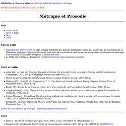 Métrique et Prosodie