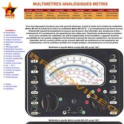 METRIX Multimètres analogiques