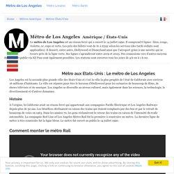 Metro Rail :plan du métro de Los Angeles, États-Unis