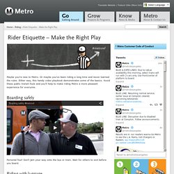 Rider Etiquette – Make the Right Play