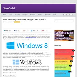 New Metro Style Windows 8 Logo - Fail or Win?