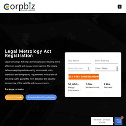 Legal Metrology Act registration