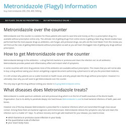 Metronidazole over the counter
