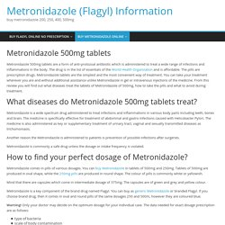 Metronidazole 500mg tablets buy online without prescription