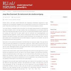 Joep Bos-Coenraad: De metronoom der studievoortgang