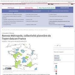 Rennes Métropole, collectivité pionnière de l'open data en France