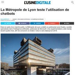 La Métropole de Lyon teste l'utilisation de chatbots
