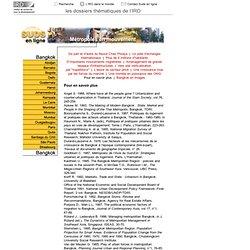 Métropoles : Bangkok