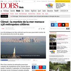 Climat : la montée de la mer menace 136 métropoles côtières - 26 septembre 2013 - L'Obs