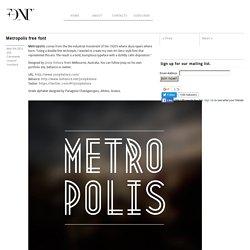 Metropolis free font - Fontfabric™