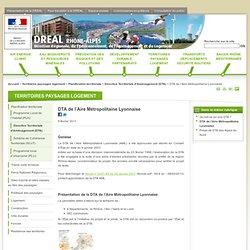 DTA de l'Aire Métropolitaine Lyonnaise - DREAL Rhône-Alpes