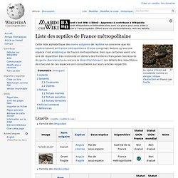 Liste des reptiles de France métropolitaine