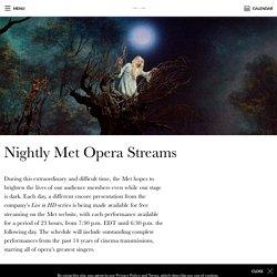 Nightly Met Opera Streams