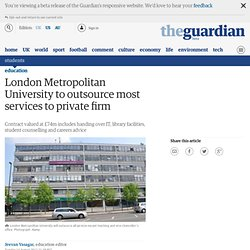 London Metropolitan University to outsource most services to private firm