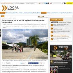 El área metropolitana de Bucaramanga, entre los 100 mejores destinos para el 'outsourcing'