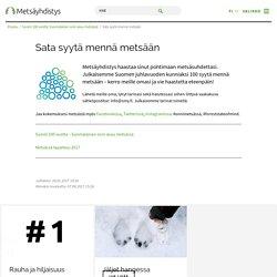 Sata syytä mennä metsään – Suomen Metsäyhdistys ry