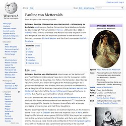 Pauline von Metternich