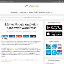 Mettez Google Analytics dans votre WordPress