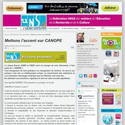 Mettons l'accent sur CANOPE