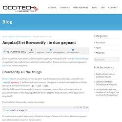 Mettre en place un projet AngularJS avec Browserify