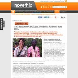 « Mettre les compétences de l'audit social au service d'une ONG » - Droits de l'homme - Ressources humaines