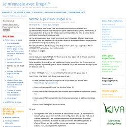 Mettre à jour son Drupal 6.x