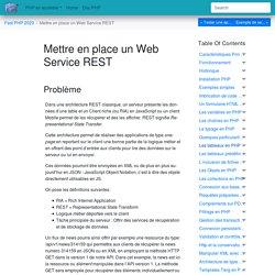 Mettre en place un Web Service REST — Fast PHP 2020